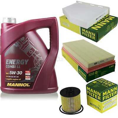 Inspection Set 5L Mannol Energy Combill 5W30 Motor Oil + Mann Filter 10769032