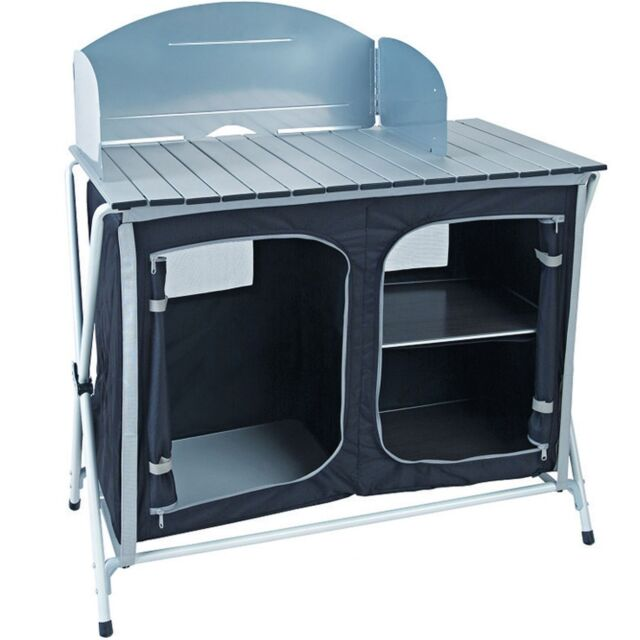 Royal Easy Up Lightweight Camping Kitchen Stand / Unit & Windshield