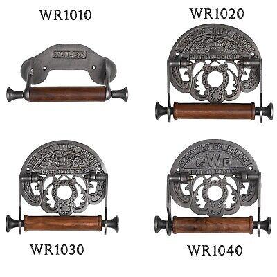 Gusseisen Toilettenpapierhalter WC Rollenhalter Klopapierhalter Holz antik (Gusseisen Rollen)