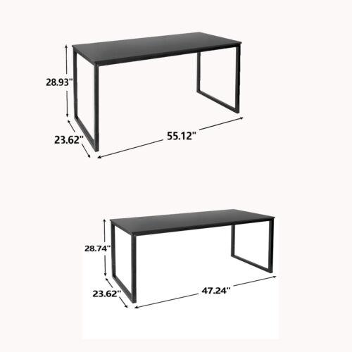 47″ 55″ L Computer Espresso Style Writing Desk Study Office Desk Corner Table Furniture