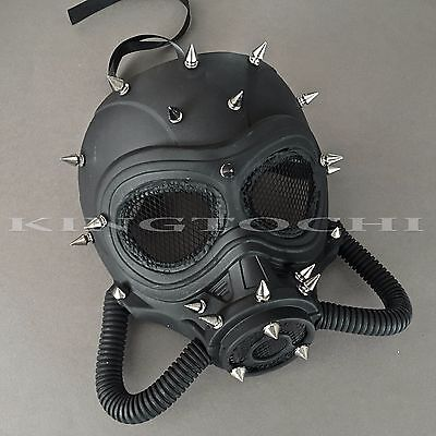 Steampunk Full Face Black Halloween Masquerade Gas Pipe Party - Halloween Tube