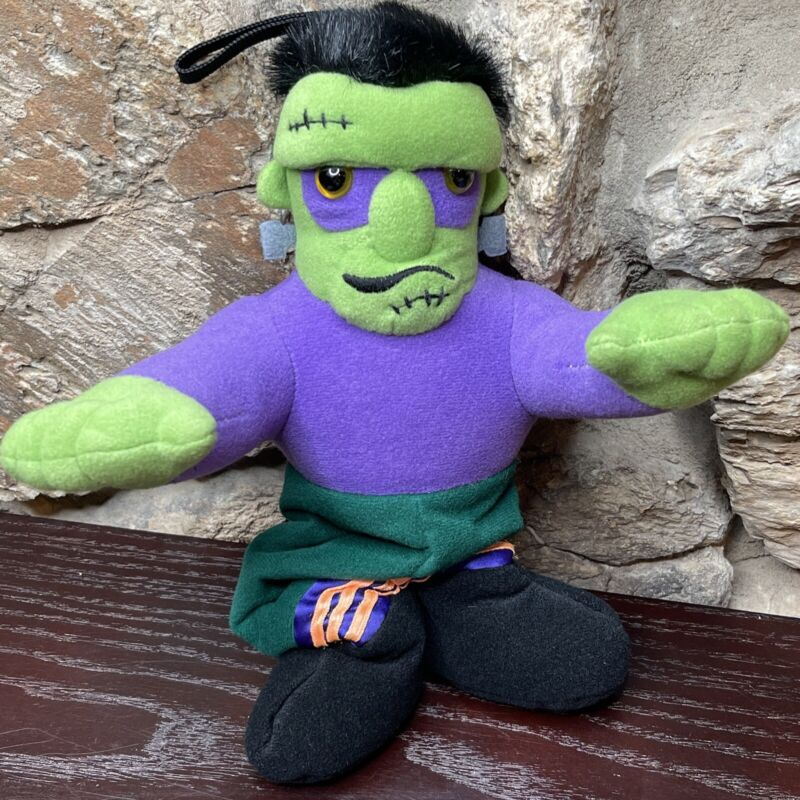 Vintage Dakin Frankenstein Musical Crib Pull Down Monster Halloween Plush 1993