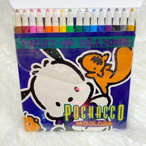 "Vintage Pochacco 16 Twist Up Crayons 1996 ""NWT"""