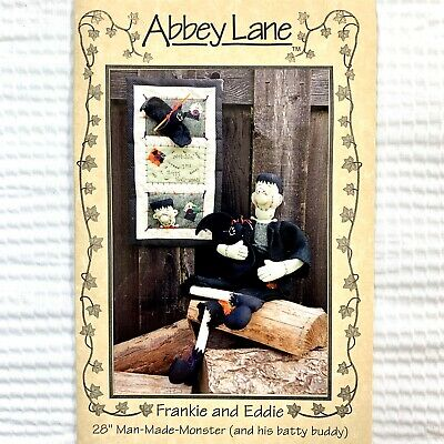 Halloween Quilt Patterns (Halloween Quilt and Frankenstein Doll Pattern Frankie and Eddie by Abbey)