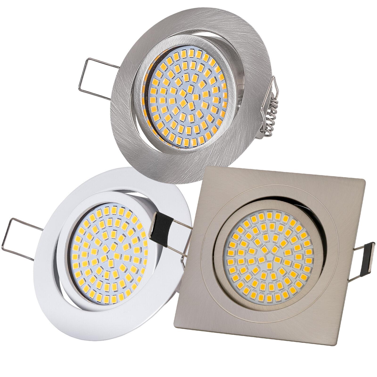 Ultraflach Einbaustrahler LED 230V 3,5W Einbauleuchte Einbauspots 350Lm