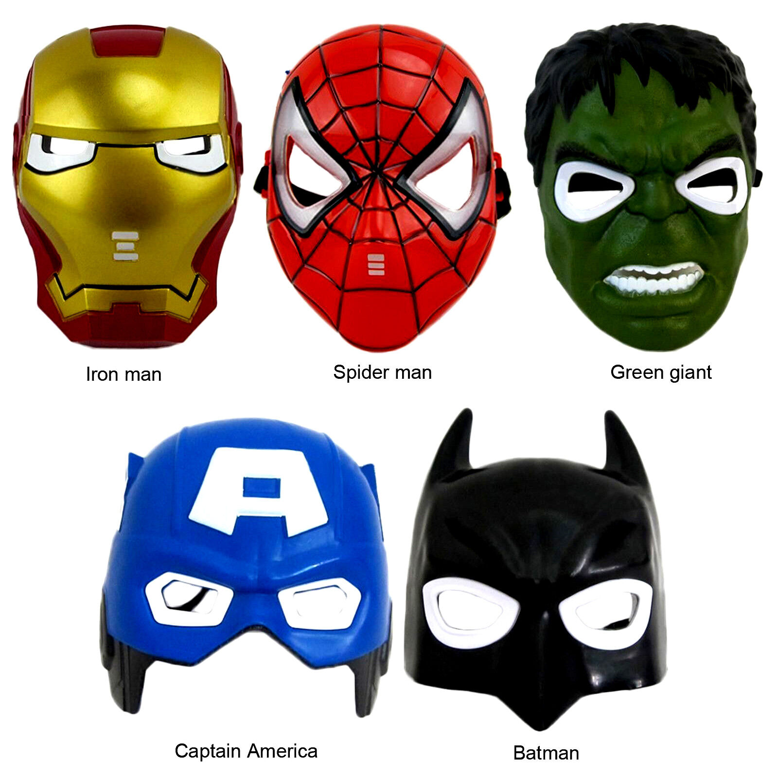 Spiderman Superhero LED Light Up Kids Children Mask Halloween Costume Cosplay