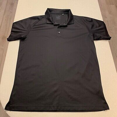 Puma Golf Polo Short Black Mens UK Size Medium