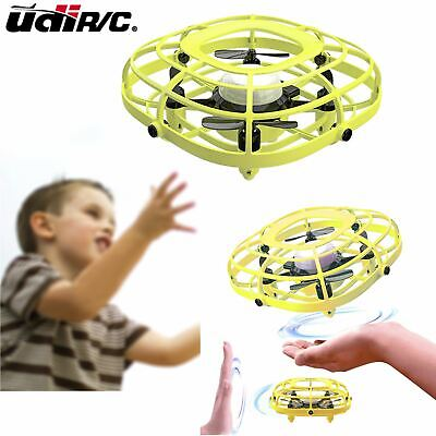 UDIRC Flying Ball Drone for Kids Hand Operated Mini Drone Toys Fan Mode Yellow