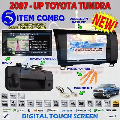 KENWOOD GPS DOUBLE DIN BT STEREO BACKUP CAMERA TOYOTA TUNDRA RADIO DASH KIT A3