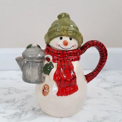 Hallmark Snowman Teapot Mitford Jan Karon Collectable Christmas Decor Gift