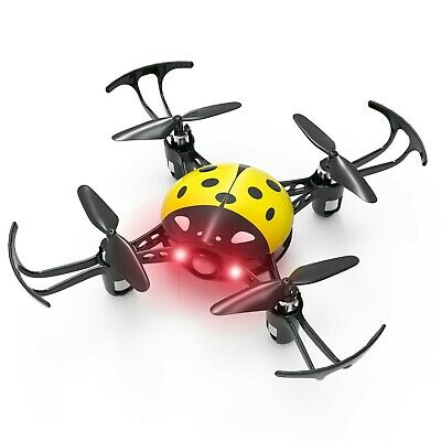 Ladybug Mini Quadcopter - Obscure Control RC Mini Drone Beginners Toy - YELLOW