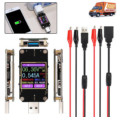 New Digital Color Lcd Multimeter Bluetooth Usb Pd Battery Capacity Meter Tester