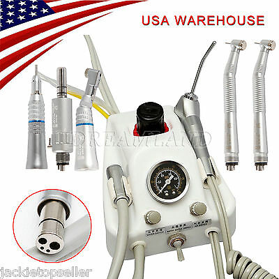 Nsk Portable Dental Turbine Unit Work Compressor High Low Speed Handpiece 4 Hole