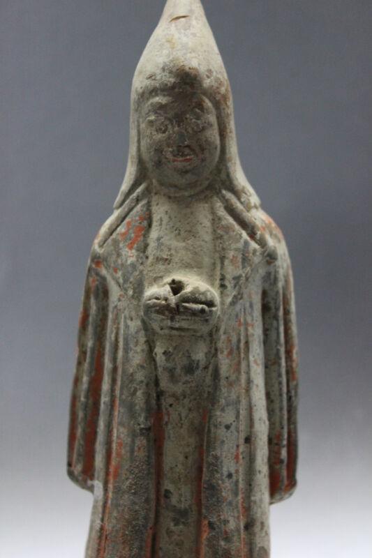 B.C.A.D. ART - 206 B.C. - 220 A.D. HAN DYNASTY POTTERY ATTENDANT