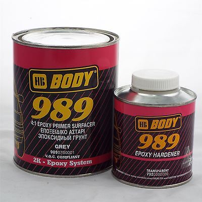 HB Body Vehicle 989 4:1 Epoxy Primer/Surfacer 1L + Activator 250ml 989/732