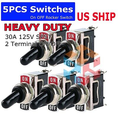 X5 Toggle Switch Heavy Duty 20a 125v Spst 2 Terminal Onoff Car Waterproof Atv