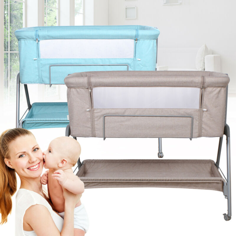 Baby Bassinet Bedside Newborn Sleeper Portable Bed Travel Crib Aluminum New