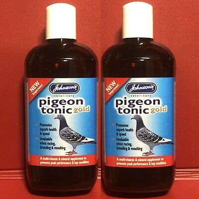 2 Johnsons Pigeon Tonic Gold Multi-vitamin Mineral Conditioner Moulting Breeding