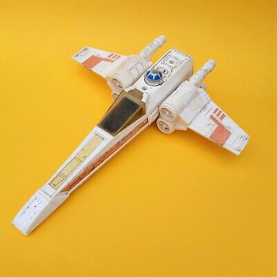 Vintage Star Wars X-Wing With Original Canopy Incomplete Working Mechanism