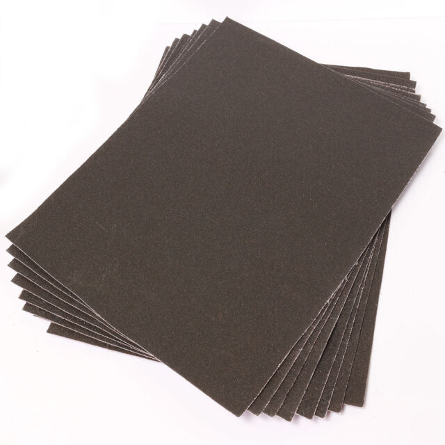 Large Emery Cloth Sheets Pack 60+100+150 GRITS Fine/Coarse Strong Sandpaper