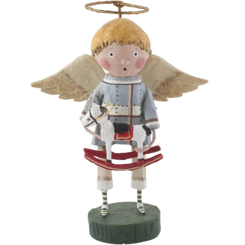 Lori Mitchell Toy Shoppe Angel Boy Child Christmas Folk Art Figure Figurine