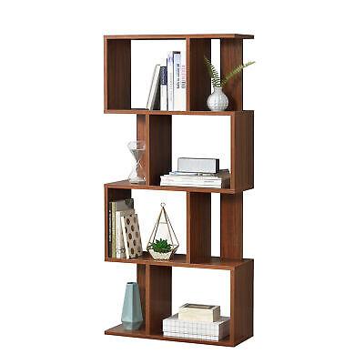 en.casa Librería Estante para CDs Soporte para DVDs Con 8 compartimientos Nogal