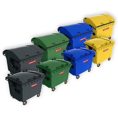 SULO Müllcontainer 660 und 1100 Liter, Müllgroßbehälter, Mülltonne, farbig neu