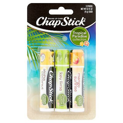(X3 Limited Edition Chapstick Lip care Mango Sunrise, Aloha Coconut, Key Lime )