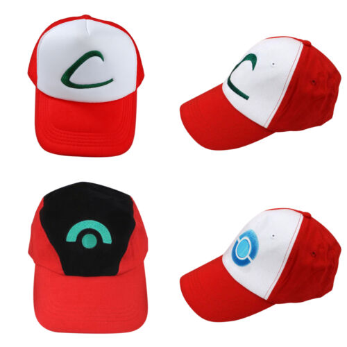 Pokemon Trainer Hut Cosplay Ash Ketchum Herren Baseball Cap Anime Pokedex Sommer