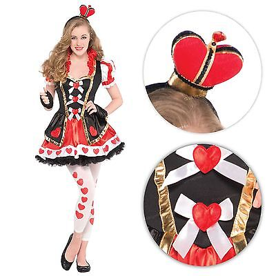 Teen Girls Fairytale Queen of Hearts Fancy Dress Costume Book Week Outfit Alice