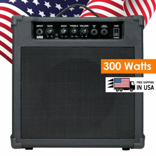 EMB 300W RMS Electric Guitar Amplifier Speaker Powerful Cabinet w/ AUX AMP - GA8