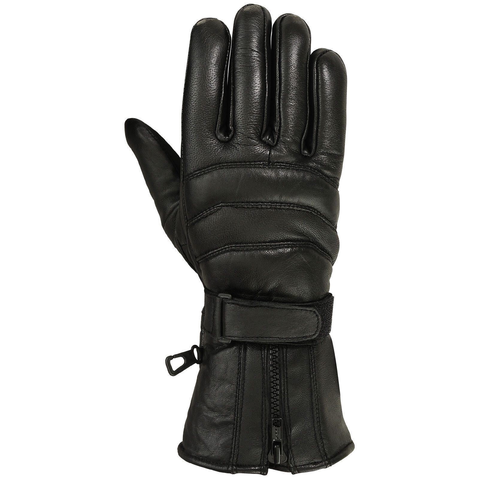 Mens Genuine Leather Motorcycle Gloves Motorbike Riding Glove Thermal Lining