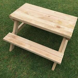 Kids picnic table solid timber new Maryland Newcastle Area Preview