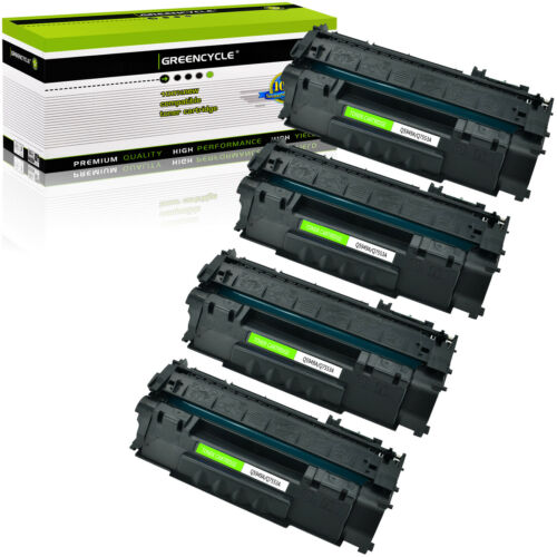 4 Pk Q7553A 53A BK Toner Cartridge For HP LaserJet P2014N P2