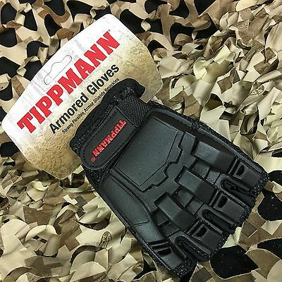 NEW Tippmann Armored Tactical Half Finger Paintball Airsoft Gloves - Small