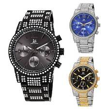 Men's Joshua & Sons JX138 Crystal MultiFunction Stainless Steel Bracelt Watch