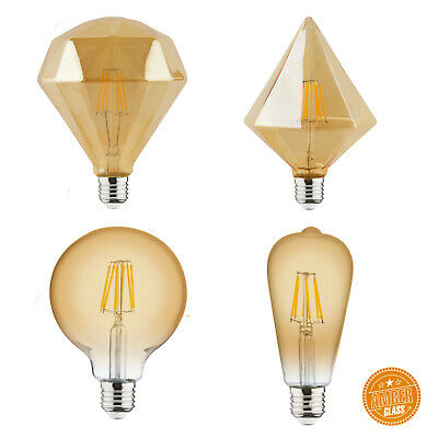 Filament Glühbirne Lampe Pyramid Diamond Vintage Globe 6W (Led Diamond)