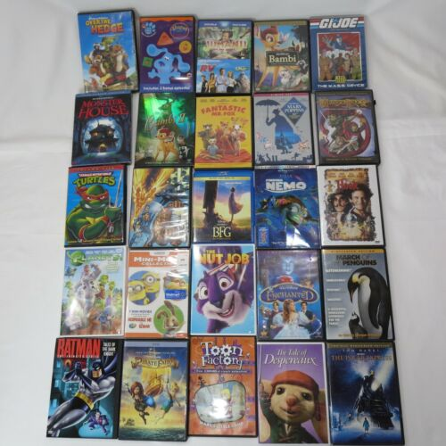 DVDs Movies Lot of 25 ASSORTED 25 DVDs FREE SHIPPING  KID MOVIES