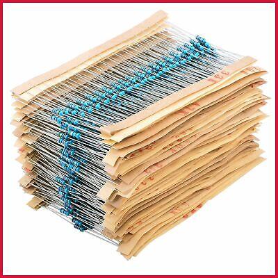 Metal Film Resistors Kit 1 Ohm 10m 14w 64 Values 1280pcs Assortment Assorted Se