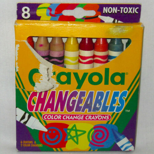 Vintage 1994 Crayola Changeables Color Change Crayons 8-Count