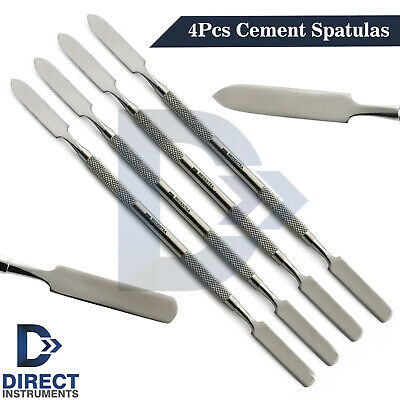 4pcs Dental Cement Spatula Double Ended Laboratory Mixing Scraper Restorative Ce