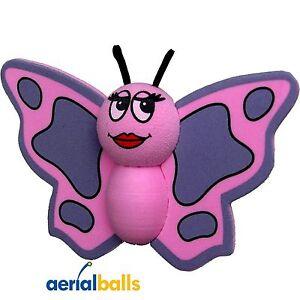 Cute Pink Butterfly Car Aerial Ball Antenna Topper