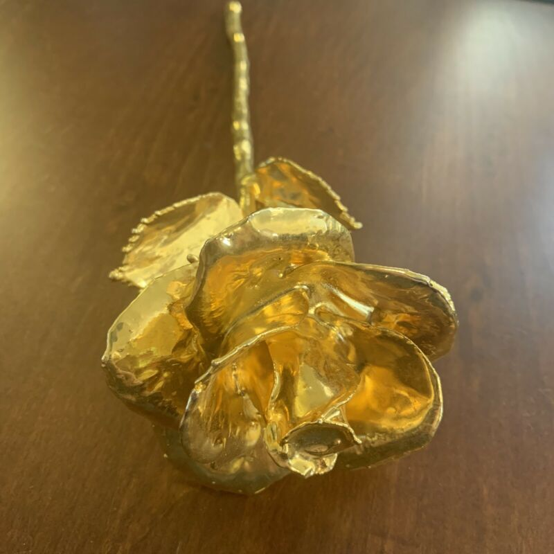 24K Gold Dipped Real Rose by The Original Forever Rose USA Brand