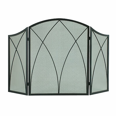Pleasant Hearth Arched 3-Panel Victorian Gothic Fireplace Sc