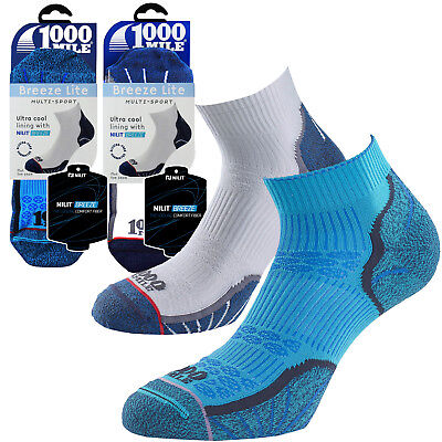 Sport Lite Socken (1000 Mile Breeze Lite 100% Blasenfrei Cool Komfort Herren Sport Fitness Socken)