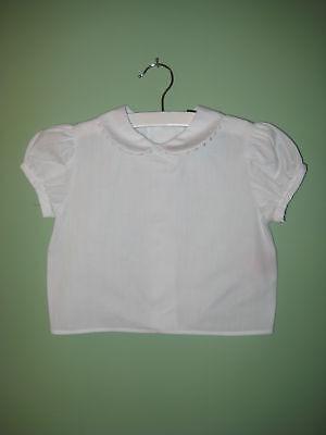 Girls Peter Pan Collar Blouse Ric Rac Trim Uniform Shirt Costume Chocolate Soup