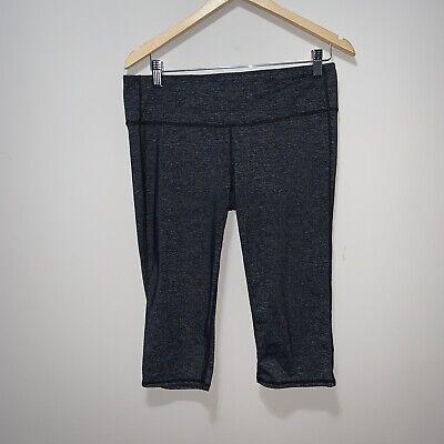 Women's Athleta Crop Capri Pants Size Large Active Leggings Gray Black