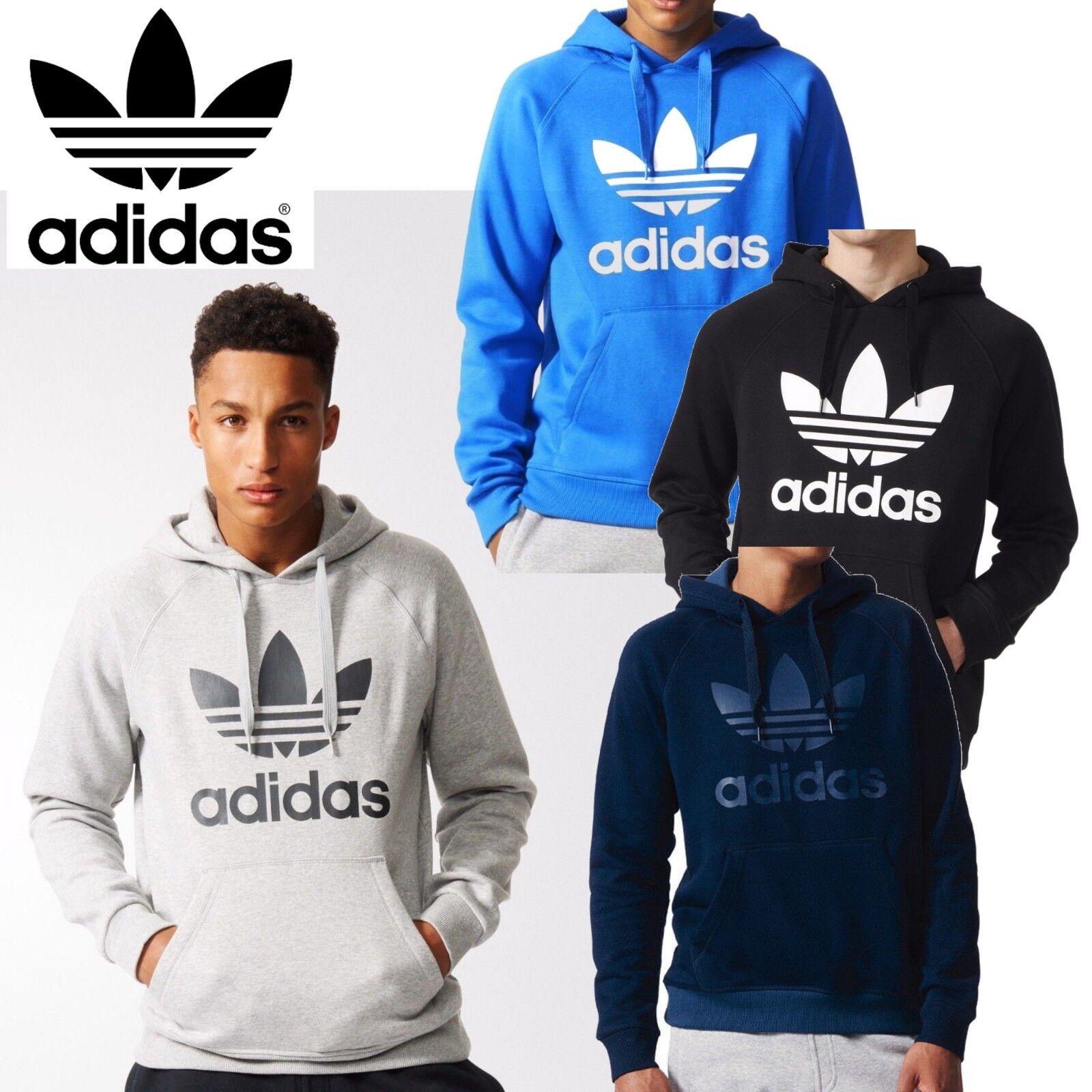 c7c018964b22 adidas Originals Trefoil Hoodies Mens Sweatshirt Hooded Jumper Sports Tops