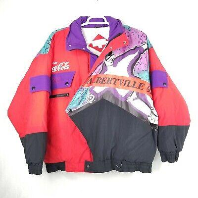 Vintage Coca Cola Albertville 1992 Winter Olympic Games Ski Jacket Large L