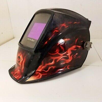 Miller Digital Elite Auto Darkening Welding Helmet - Black With Flames